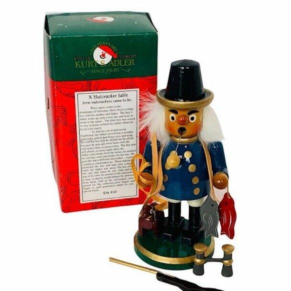 Kurt Adler Smoker Nutcracker wood Germany box vtg